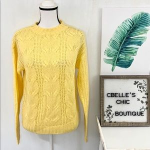 🆕Absolutely Creative Worldwide Cable Knit Sweater